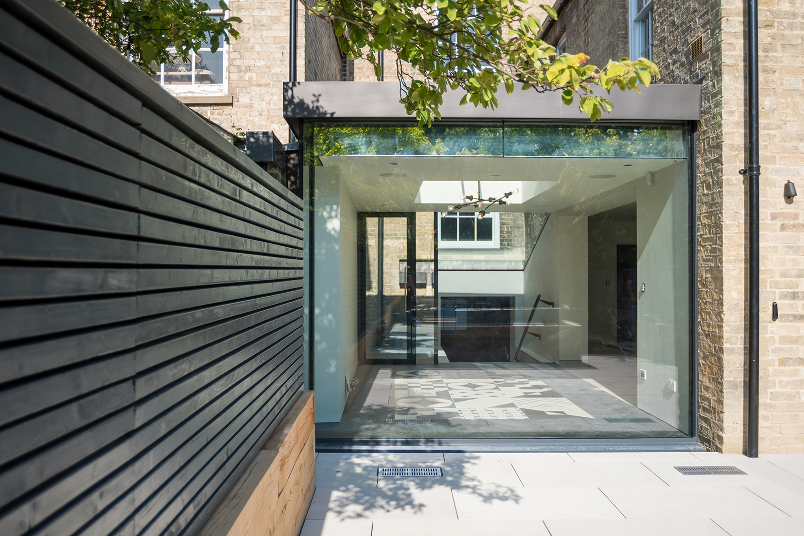 Listed Building Extension | Glass extension | Contemporary Extension | Chevron Parquet | Architect | Building Contractor | Design and Build | Construction | Interior Design | Building | Refurbishment | Cambridge | London | Suffolk | Essex | Saffron Walden | Hertfordshire | The Daniels Group