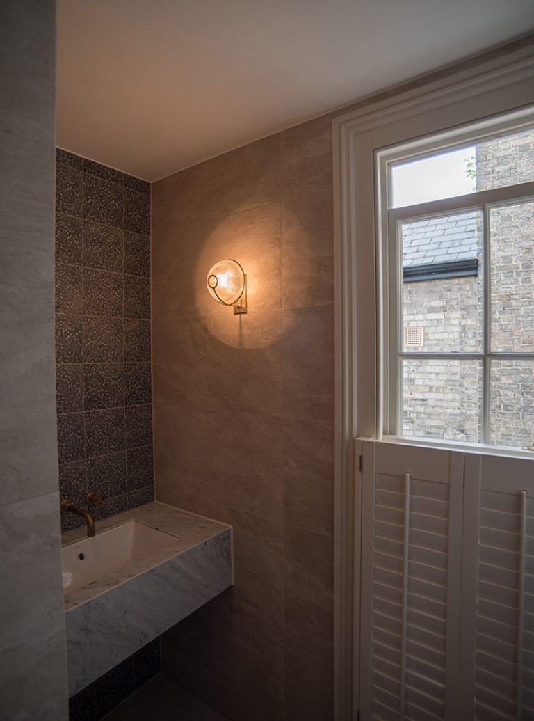 Marble Bathroom | Mitred Marble | Bespoke Bathroom | Bathroom Installation | Architect | Building Contractor | Design and Build | Construction | Interior Design | Building | Refurbishment | Cambridge | London | Suffolk | Essex | Saffron Walden | Hertfordshire | The Daniels Group