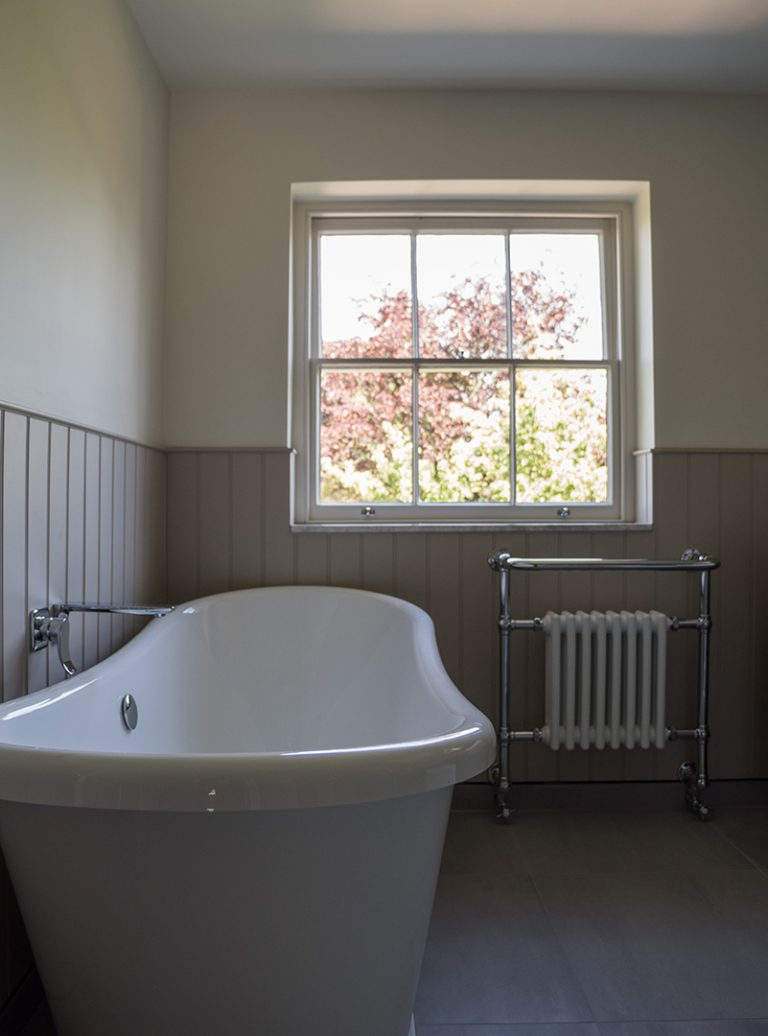 Bespoke Bathroom | Bathroom Panelling | Professional bathroom Installation | Beautiful bathroom | Architect | Building Contractor | Design and Build | Construction | Interior Design | Building | Refurbishment | Cambridge | London | Suffolk | Essex | Saffron Walden | Hertfordshire | The Daniels Group