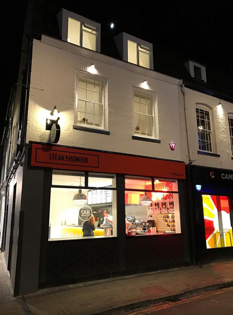 Listed Building | Steak and Honour | Restaurant Fit Out | Commercial Kitchen | Architect | Building Contractor | Design and Build | Construction | Interior Design | Building | Refurbishment | Cambridge | London | Suffolk | Essex | Saffron Walden | Hertfordshire | The Daniels Group