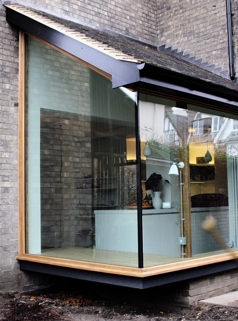 Frameless Glazing | Glass Box Extension | Window Seat | Bulthaup Cambridge | Architect | Building Contractor | Design and Build | Construction | Interior Design | Building | Refurbishment | Cambridge | London | Suffolk | Essex | Saffron Walden | Hertfordshire | The Daniels Group